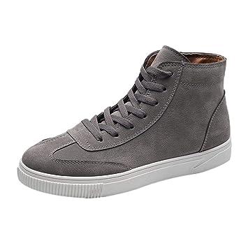 WWricotta LuckyGirls Zapatillas Casual Hombres Botas de Media Caña Vintage Moda Cómodas Calzado Andar Zapatos Planos Bambas con Cordones: Amazon.es: ...