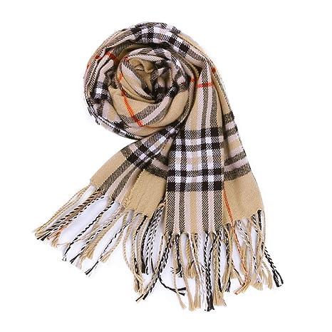 eaa75eec2b387 Plaid scarves Tartan Scarf Wrap Classic Cashmere Soft Warm Blanket Shawl  (Camel): Amazon.ca: Luggage & Bags