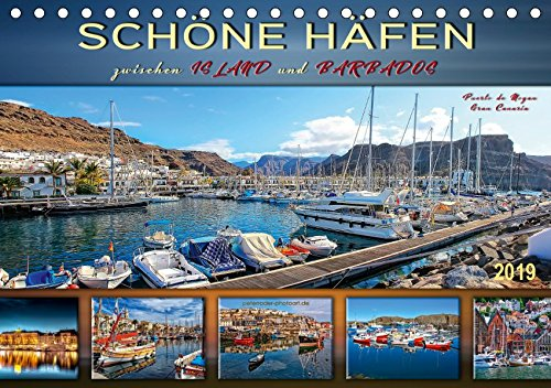 Schöne Häfen zwischen Island und Barbados (Tischkalender 2019 DIN A5 quer): Bezaubernde und einzigartige Häfen auf der ganzen Welt (Monatskalender, 14 Seiten - Barbados Calendar