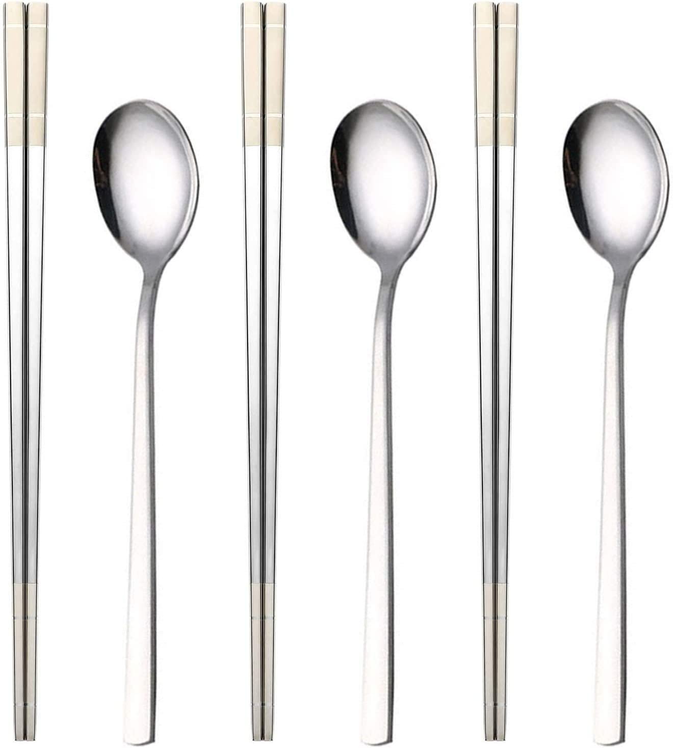 Tibitdeer/Titanium Spoon/Strong Ultra Lightweight Ti /2 Pack Dishwasher Safe /&Healthy Reusable Titanium Utility Cutlery Set/for Travel//Camping/Everyday Use