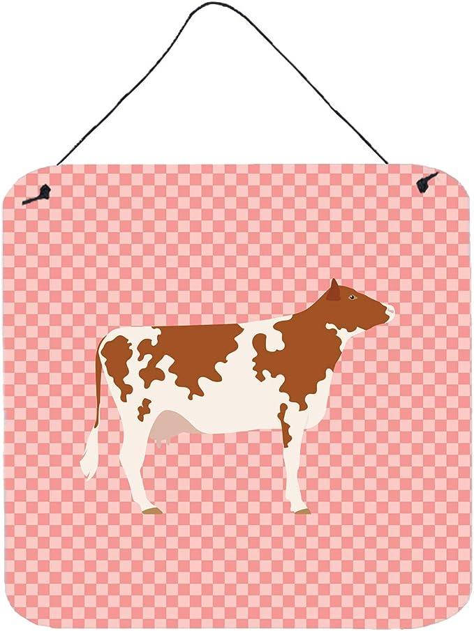 Carolines Treasures Zamorano-Leones Donkey Pink Check Wall Hook Small Multicolor