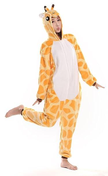 Amanecer adulto jirafa Onesie disfraz Kigurumi pijama (pequeñas, jirafa)
