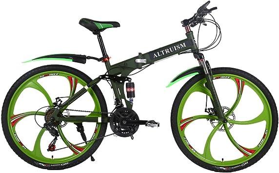 Altruism 26 Pulgadas Mountain Bike para Hombres y Mujeres con Parte Delantera y Trasera Freno, Armeegrün: Amazon.es: Deportes y aire libre