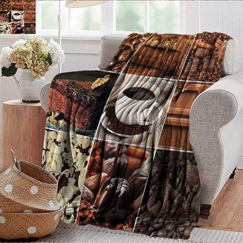 Xaviera Doherty Throw Blanket Brown,Coffee Chocolate Cocoa Super Soft and Comfortable,Suitable for Sofas,Chairs,beds 60