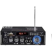 Mini Bluetooth Amplificador Audio, 600W HiFi de 2.0 Canales Audio Stereo Music Reproductor, SD Card/USB Input/ FM Radio…