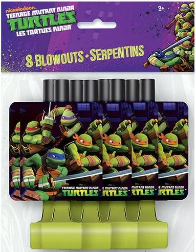 Teenage Mutant Ninja Turtles Party Blowers, 8ct
