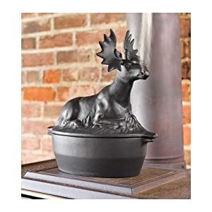 Cast Iron Moose Wood Stove Steamer
