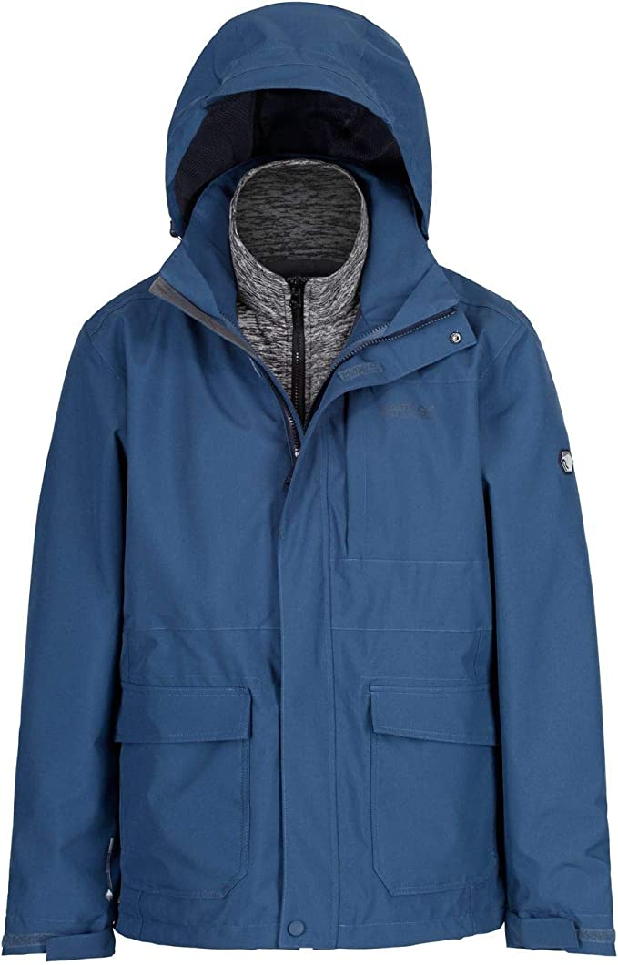 Regatta Herren Northton Ii 3 in 1 Waterproof and Breathable with Zip Out Fleece Jacke