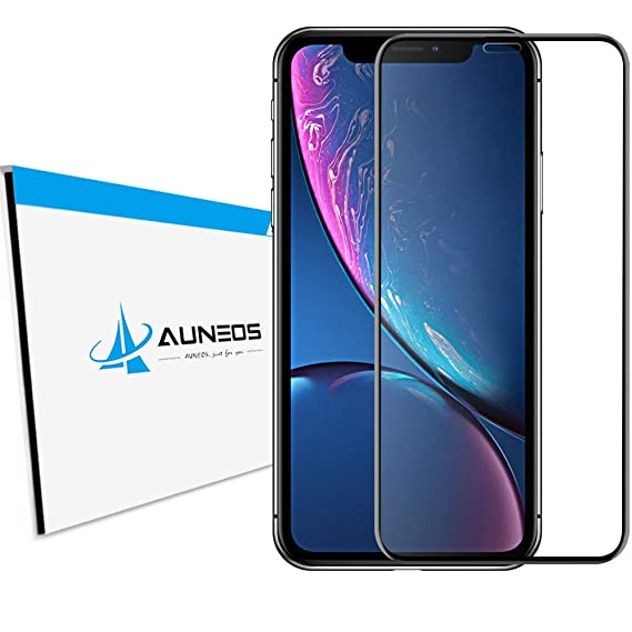 new style fbac2 50532 iPhone XR Screen Protector Tempered Glass [Full Adhesive] AUNEOS Premium 9H  Glass Protector iPhone XR [Full Coverage] HD Clear Tempered Glass iPhone ...