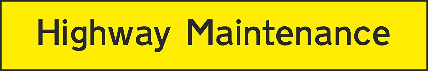 200mm x 33mm Highway Maintenance Sign Self Adhesive Sticker Type V6CONS0043