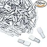 150 Packs Top Quality Shelf Pins 5mm Spoon Shape Cabinet Furniture Shelf Support Pegs Nickel Plated