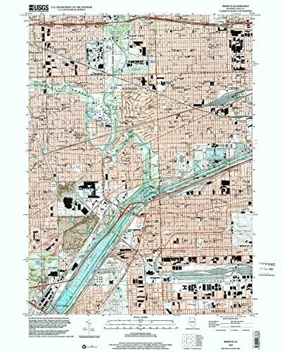 Berwyn IL topo map, 1:24000 scale, 7.5 X 7.5 Minute, Historical, 1998, updated 2002, 26.8 x 21.5 IN - - Brookfield Square