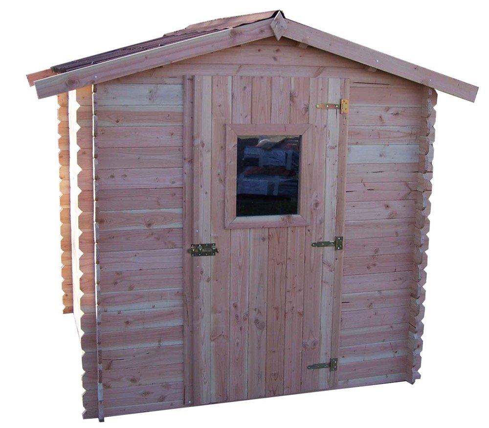 HABRITA Casetta Dalia madriers Douglas 20 mm senza pavimento tetto doppia pendenza 4,28 M²