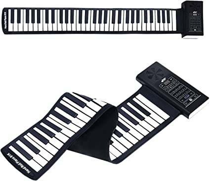 Toys Games Learning Education Lujex Upgrade Portable 61 Keys Roll Up Flexible Electronic Piano Keyboard With Full Soft Responsive Keys Built In Speaker Musical Instruments 61 Keys Kopa Or Kr