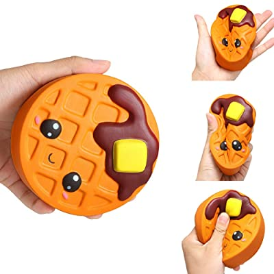 Brave669 Stress Relief Toys & Squishy Chocolate Cake Waffle Scented Slow Rising Kids Adult Stress Relief Toys, Perfect for Adults Children to Relief Anxiety: Toys & Games