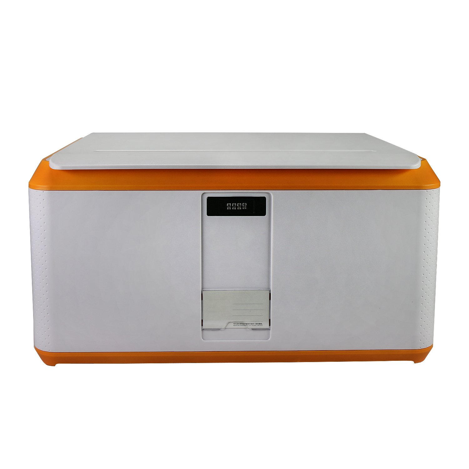 EVERTOP Extra Large Deck Box for Home, Office, Car, White with Code Lock (A-Orange)