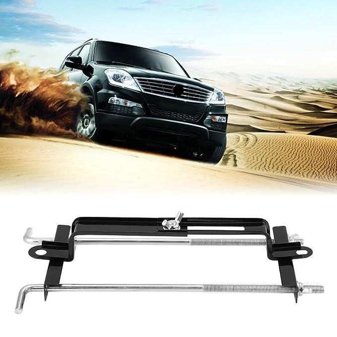 KIMISS Universal Adjustable Crossbar,Battery Hold Down Bracket L-Bolt style Holder for Car SUV