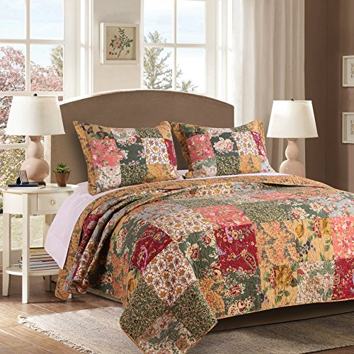 Greenland Home Antique Chic 100% Cotton Authentic Patchwork Quilt Set, King