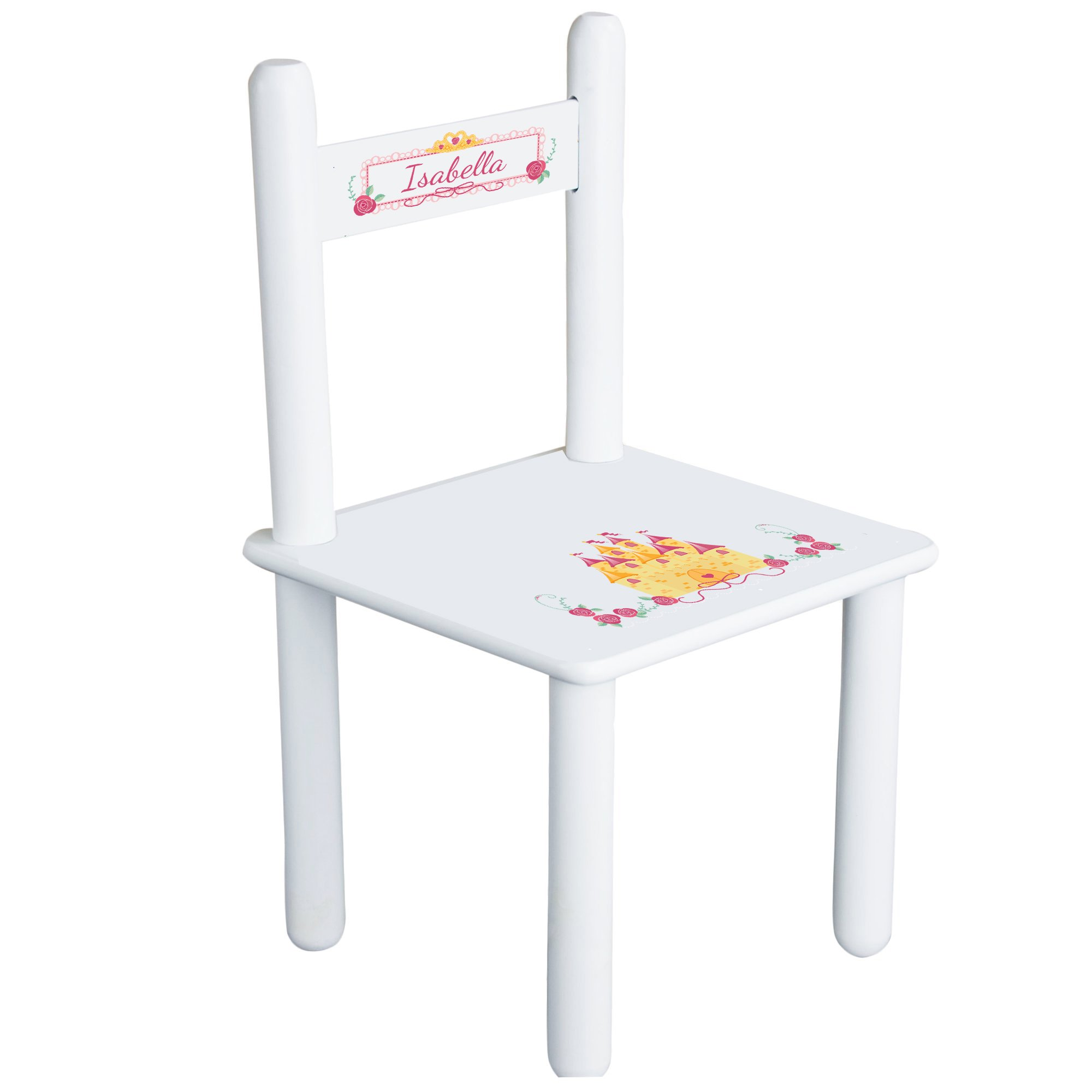 Personalized Beautys Castle Child's Chair - white