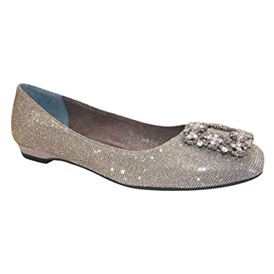 J. Renee Dewport Jeweled Flat (Women's) x5ziDse
