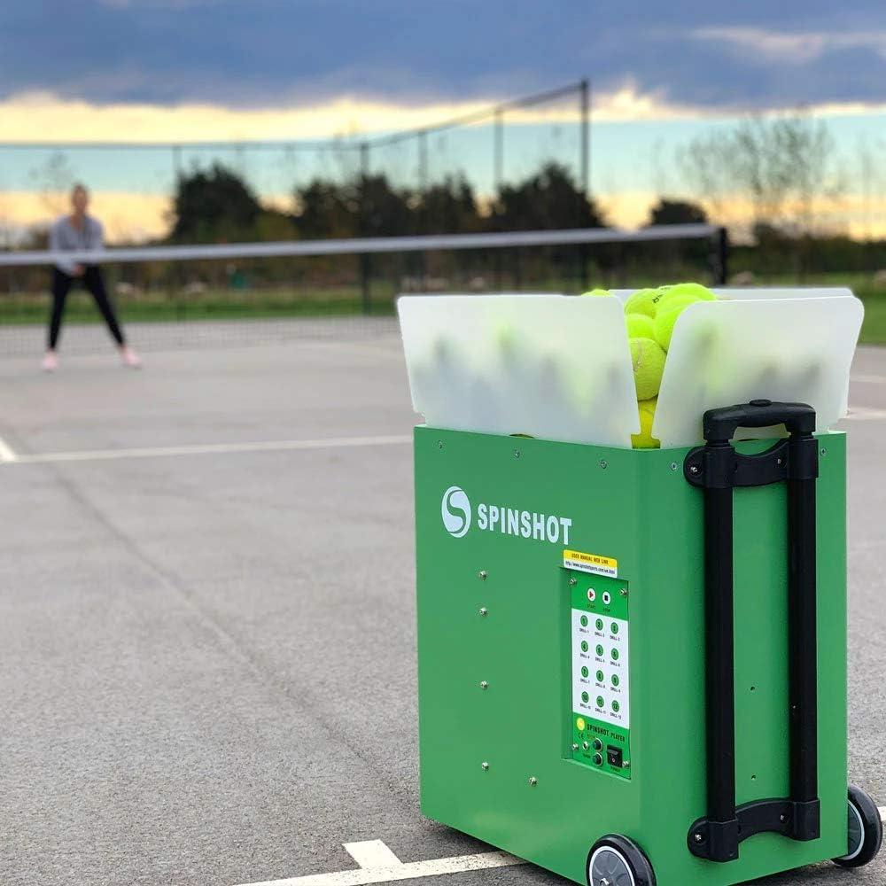 Spinshot-Player Tennis Ball Machine (Best Seller Ball Machine in the World) : Sports & Outdoors