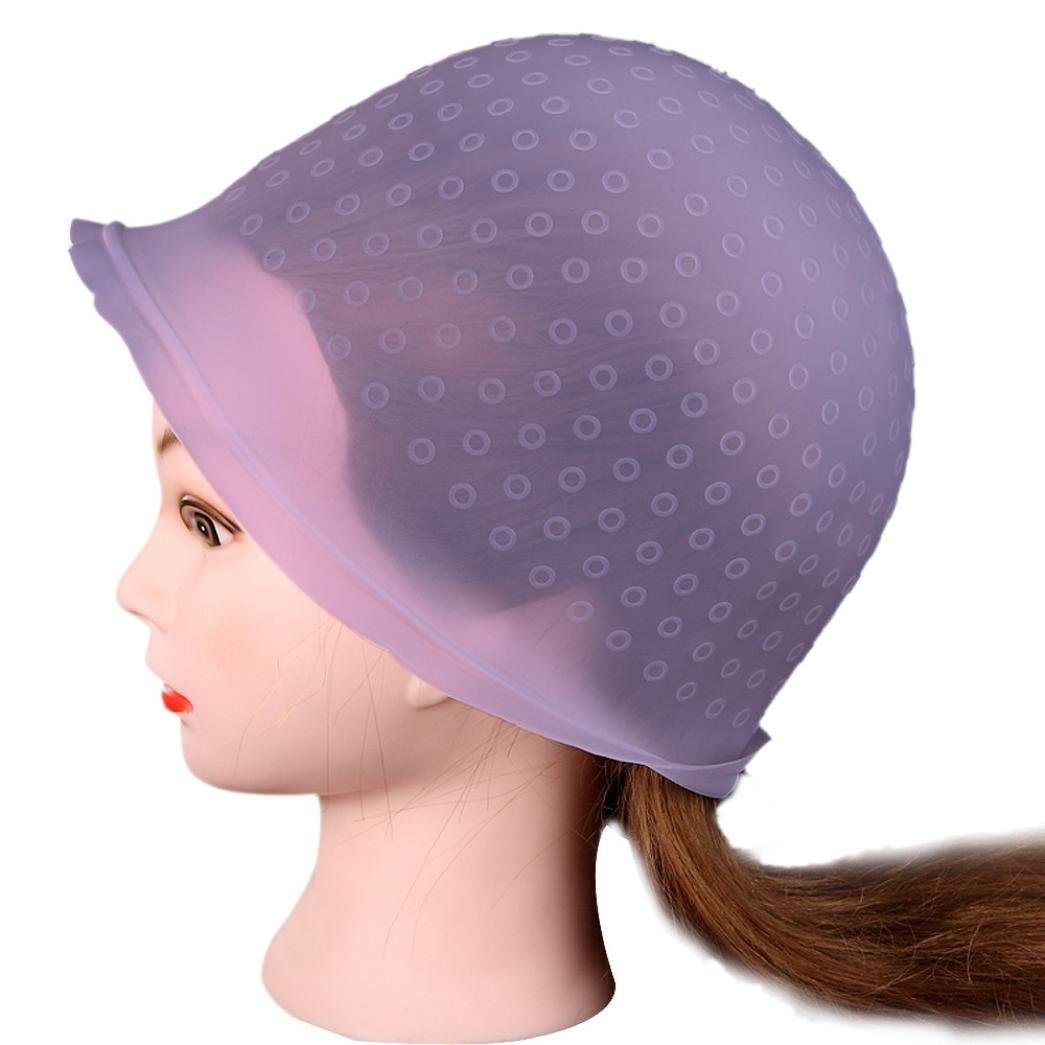 Vanvler Professional Salon Reusable Hair Colouring Highlighting Dye Cap Hat Hook User-friendlyHat Hook Frosting Tipping (Pink)