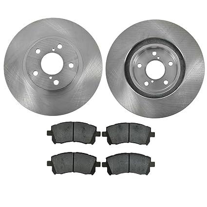 Nakamoto Brake Pad /& Rotor Kit Premium Posi Ceramic Front /& Rear for Subaru New