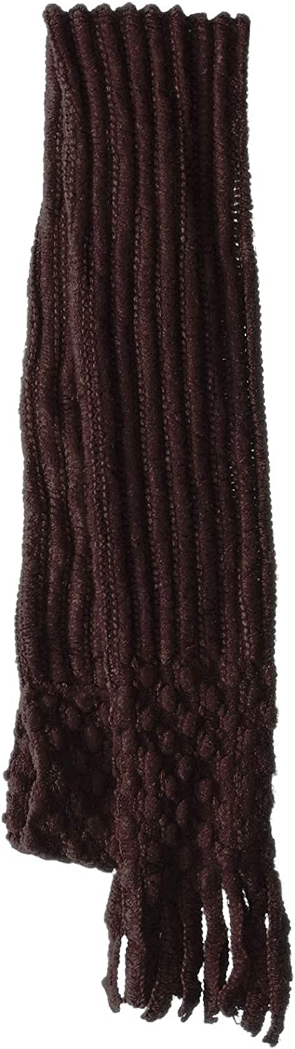 Britt/'s Knits Pull-through Ultra-Soft Ribbed and Popcorn Style Scarf with Fringe