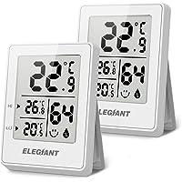ELEGIANT (2 Piezas Termómetro Higrómetro Digital para Interior, Termohigrómetro Mini Medidor de Temperatura Medidor…