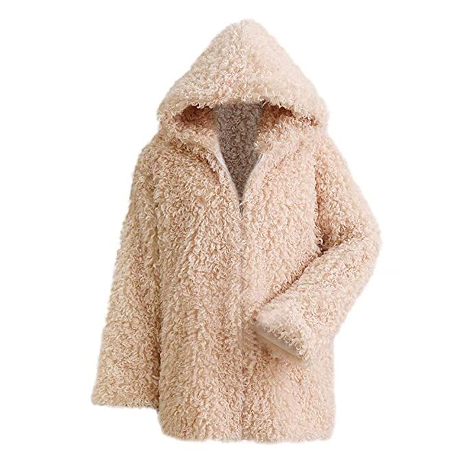 Luckycat Corto Abrigo Mujer Collar del Soporte Chaqueta Invierno Chaquetas Pelo Sintético Abrigo de Piel Sintética