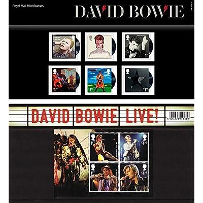 2017David Bowie timbres dans un Lot de présentation Pp510(Imprimé N ° 538)–Royal Mail Timbres