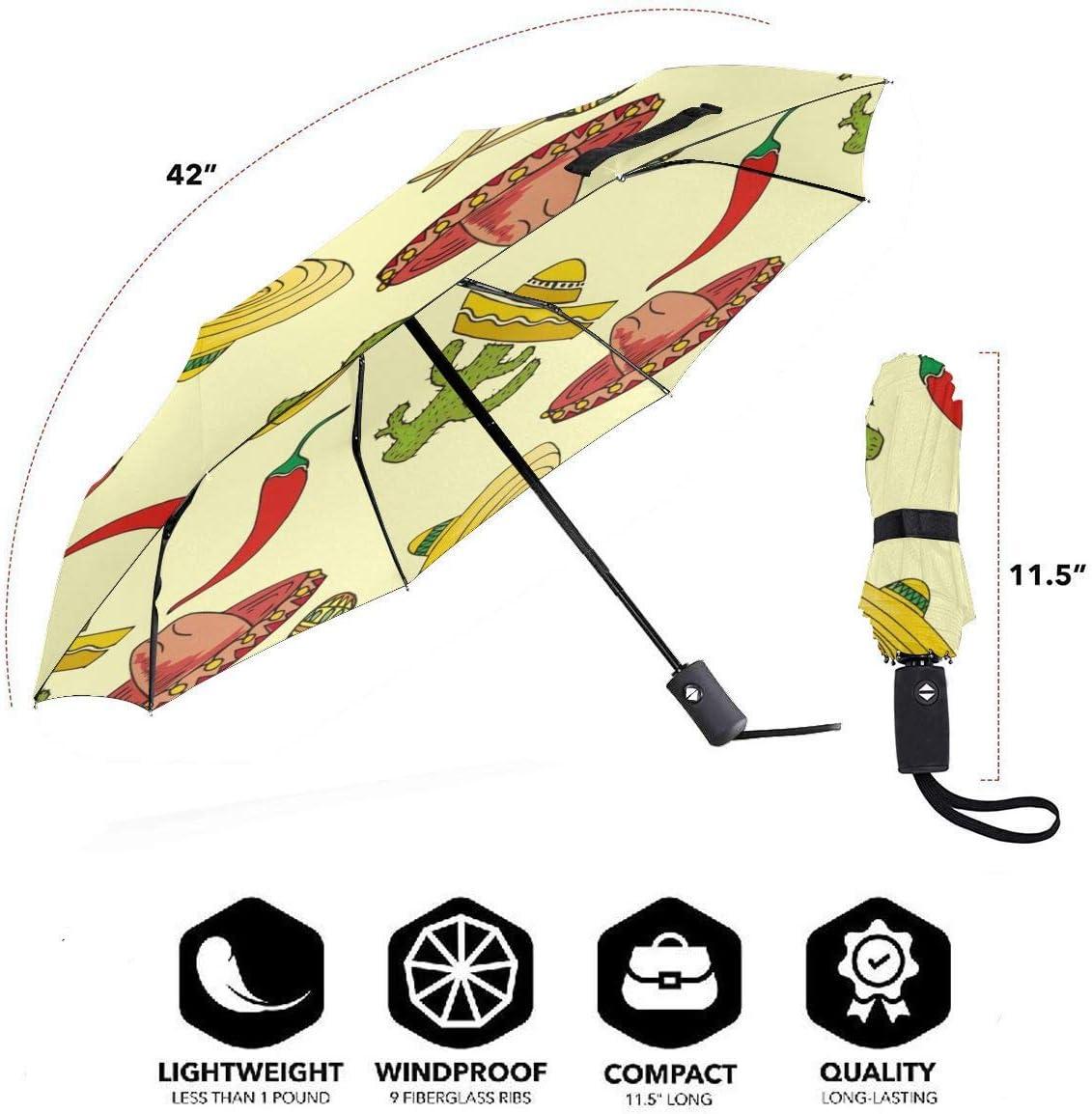 Melon Summer Fruits Automatic Folding Umbrella Super Sunscreen Rain Portable Creative UV Protection Tri-Fold Umbrella