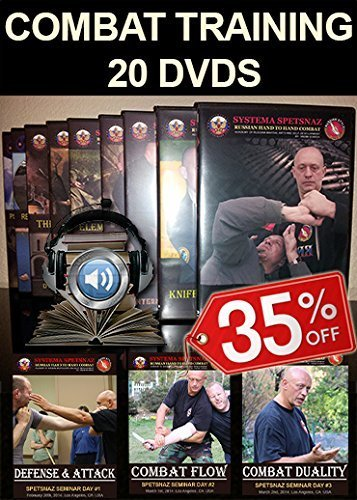 SELF-DEFENSE TRAINING DVDS - Russian Martial Arts DVDs of Close Hand to Hand Combat, Street Fighting Techniques - 20 DVD set in English