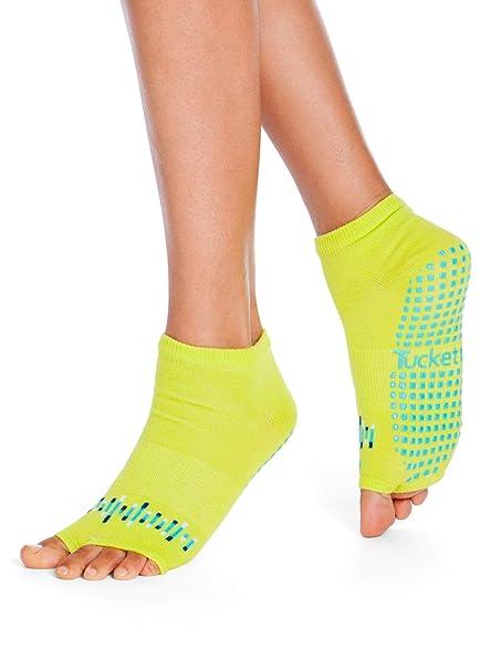 Tucketts Calcetines Yoga Pilates Antideslizante Deporte Mujer, Colchoneta Deporte Accesorios Yoga, Calcetín Dedos para Ballet, Barra Fitness, Danza, ...