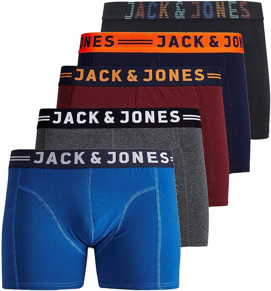 JACK /& JONES Herren 5er Pack Boxershorts Mix Unterw/äsche Mehrpack