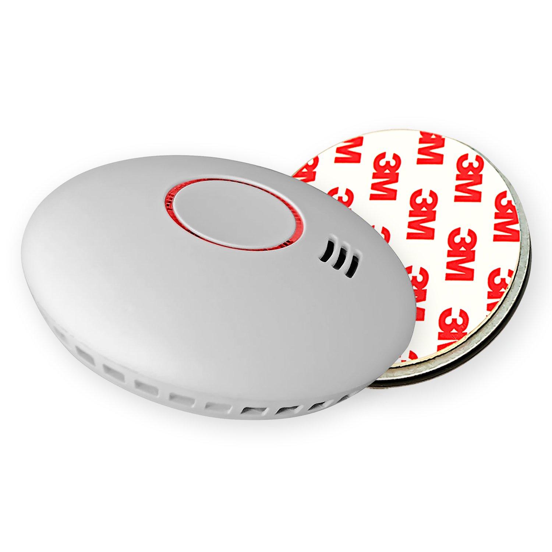 4X Nemaxx HW-2 Detector de Humo y de Calor - Detector de Incendios - Detector de Humo conectable en Red con Sensor térmico Conforme la Norma DIN EN 14604 + ...