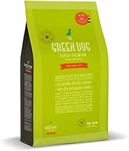 The Green Dog - Super Premium Vegan Dry Dog Food for Puppies Plant-Based Protein | Gluten & Grain-Free | Prevent Allergies and Diseases | Vegetable Flavor
