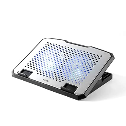 """ff5dded42f61 LESHP Cooling Pad with 2 X120mm Cooling Fans Aluminum Panel Dual High  Airflow with 2 USB Ports Supports for 10""""-17"""" Notebook Laptop"""
