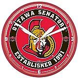 Wincraft NHL 2911414 Ottawa Senators Round Wall Clock, 12.75-Inch