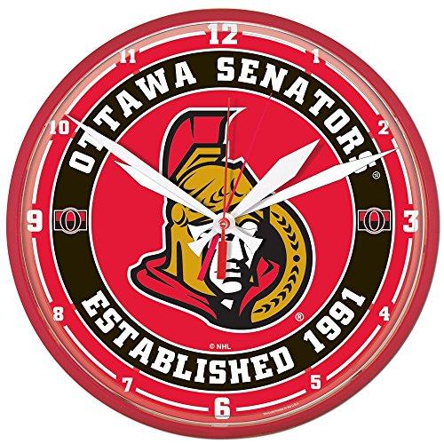 NHL 2911414 Ottawa Senators Round Wall Clock, 12.75