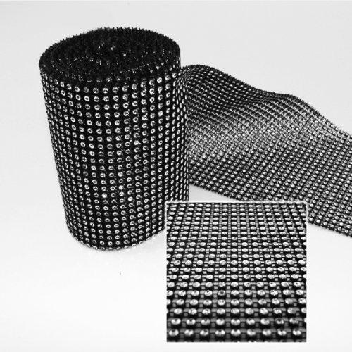Black Diamond Rhinestone Ribbon Wrap - 10 Yard/30 Feet - Decoration Party - Warehouse Rhinestone