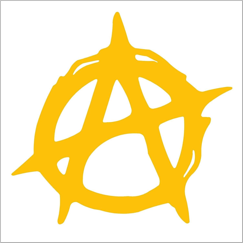 Amazon anarchy symbol car truck notebook vinyl decal amazon anarchy symbol car truck notebook vinyl decal sticker 2554 55 golden yellow automotive buycottarizona