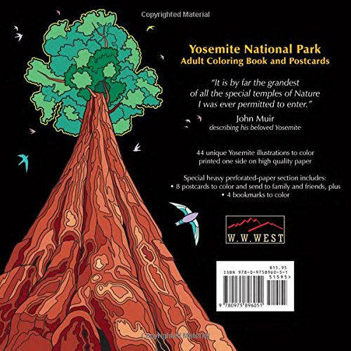Yosemite National Park Adult Coloring Book And Postcards Dave Ember Don Compton 9780975896051 Amazon Books