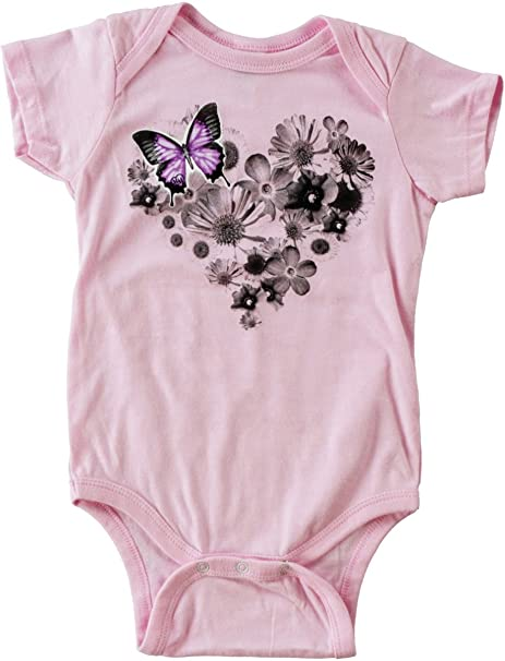 d26302787 Amazon.com: Metal Mulisha - Baby Flower Heart Onesie: Clothing