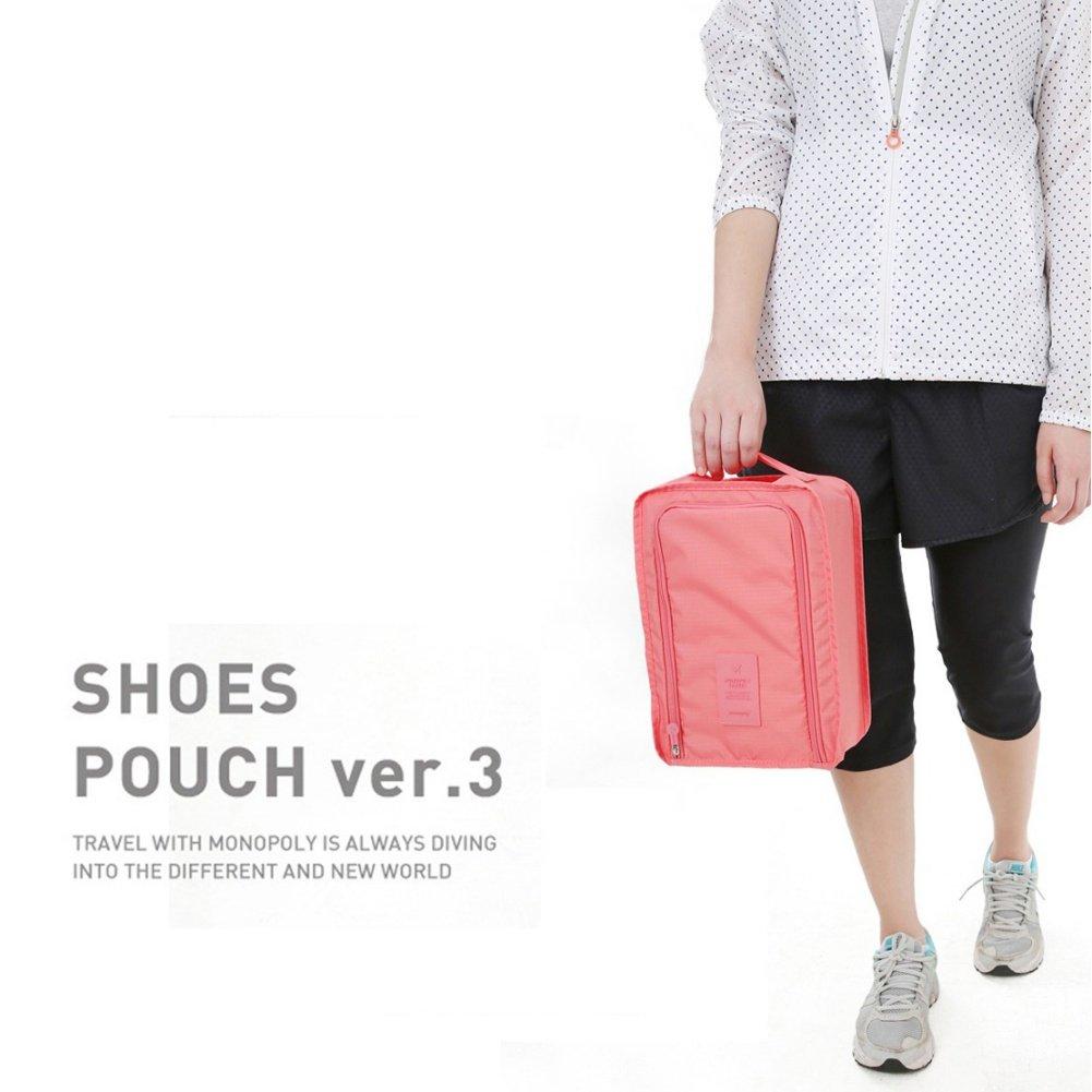 Handfly Travel Shoe Bags Waterproof Nylon With Zipper For Men /& Women-2 pair shoes
