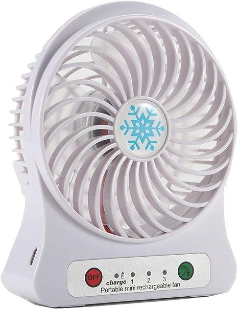 Cof costarechargeable Ventilador, 3 velocidad USB Mini ventilador ...