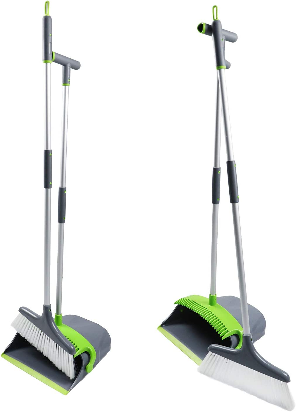 AmazonBasics Adjustable Broom and Dustpan Set