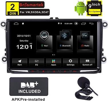 Sistema de navegación GPS para coche Android 9.1, radio estéreo RDS DAB+ Bluetooth, GPS para VW Golf MK5 MK6 Passat Jetta Tiguan Skoda 7