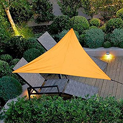 Nuxn 20 x 20 x 20 Orange Garden Patio Sun Shade Sail Triangle Canopy Outdoor Patio Fabric Shelter Cloth Screen Awning Waterproof UV Block with Storage Pouch : Garden & Outdoor