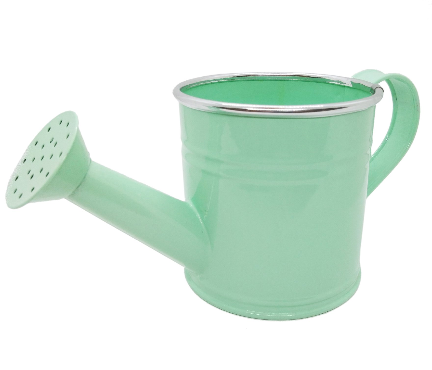 Watering Pot Vintage Style Sprinkler Nozzle Flower Garden Supply Sprayer Small Holes (Light Green, Small Size)